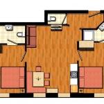 Apartment für 4 bis 8 Personen