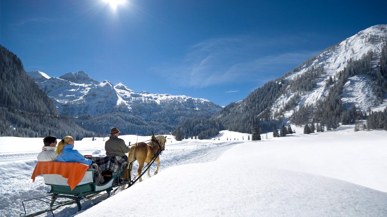 Pferdeschlittenfahrt Österreich