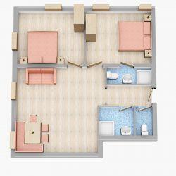 Grundrisse Appartements Flachau