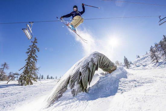 Skifahren in Flachau im Gebiet von Snow Space Salzburg, Österreich